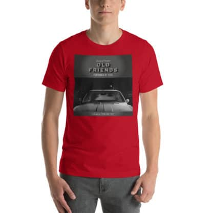 t shirt old friends red