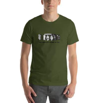 t shirt the greatest henge of all green