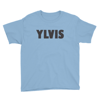 blue tshirt text ylvis